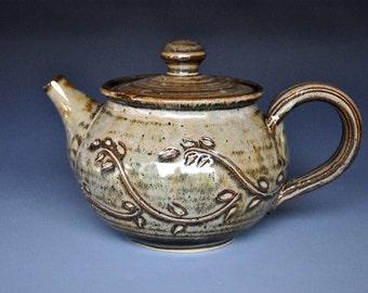 Pottery Teapot Ceramic Teapot Stoneware Teapot A