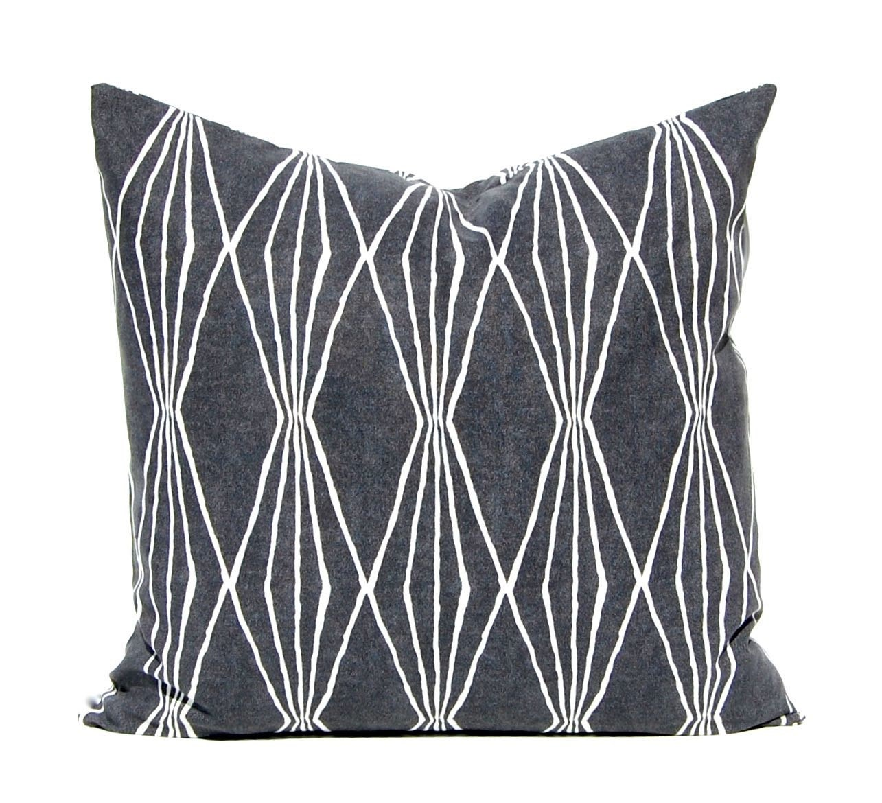 Throw Pillow Cover Charcoal Gray Pillow Cover Sofa Pillow