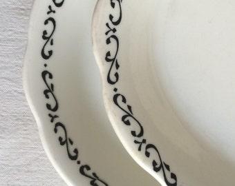 Vintage buffalo china platters  diner ware  stoneware platter