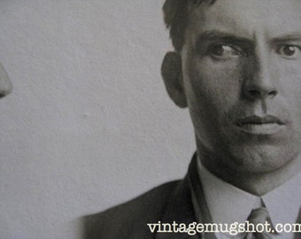 Man With Crazy Eyes Fort Wayne Indiana Police Department Criminal 1945  Rapist Farmer 1913