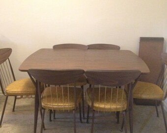 1960s atomic mid century kitchen dining room table and chairs