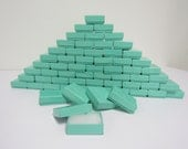 100 Pack Teal Blue Boxes (2 x 1.5 x .75 in.) // ECONOMY SIZE //