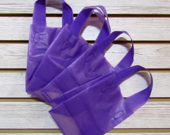 20 Pack Purple Soft Loop Handle Bags (5 x 6 in.) // BOUTIQUE CHIC //