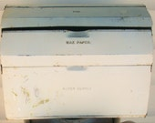 Shabby Chic Retro Metal Kitchen or Craft Room Organizer for Wax Paper, Foil and Paper Towels