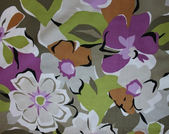 American cotton fabric Big flowers