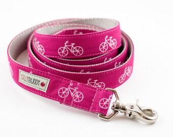 Bicycle Dog Leash in Fuchsia
