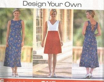 Simplicity 7651 Plus Size Design Your Own Dress Pattern SZ 18-22