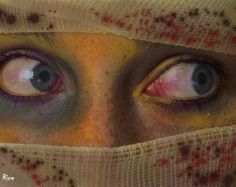 Zombie Eyes Apocalypse Bloody Horror Face Print Photo Close Up 6 x 4 6x4
