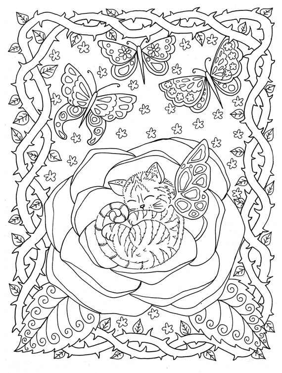 printable coloring fantacy pages - photo#39
