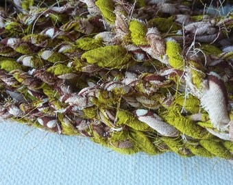 SALE Fabric twine - Olive and taupe WAS 15.00 NOW 12.00