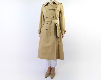 VINTAGE Trench Coat Belted 1970s London Fog