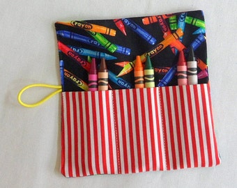 Crayon-Roll-Up Kids Crayon Rollups Crayon Roll Birthday Party Favors Party Favors Gift for Girls Gift for Boys Travel Toy Handmade