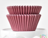 Solid Maroon GREASEPROOF Cupcake Liners BakeBright Baking Cups | ~30 count