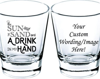 Wedding Shot Glasses - Wedding Favors - Party Favors - Shot Glasses - Shot Glass - Bachelorette Party - Bachelor Party - Custom Shot Glasses