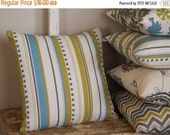 ON SALE Brook Vertical Stripe Summerland Pillow Cover - 16 inch