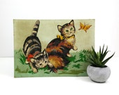 Vintage Fluffy Kittens paint by number - unframed PBN Cat Painting