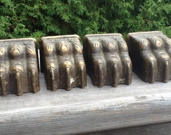 Vintage brass claw feet set of 4