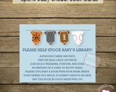 Sports Baby Shower Book Card Inserts - Instant Download