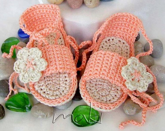PRETTY Baby sandals crochet pattern Permission to sell