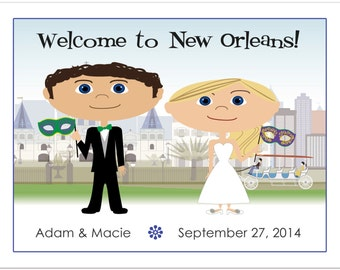 New Orleans Wedding Welcome Bag Notes, Wedding Welcome Letter, Mardi Gras Wedding, Wedding Schedule, Wedding Agenda, Wedding Welcome Note