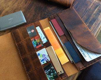 Laurel travel wallet / large travel wallet / mothers day gift / travel organizer / passport holder / oversized document wallet