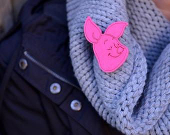 Felt pink piglet shape piglet