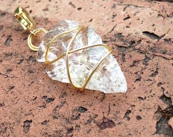 Detachable Crystal Quartz Arrowhead