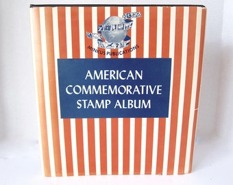 Stamp Album American Stamps Commemorative Stamps Vintage Stamp Album Postage Stamp Album Stamp Collecting Stamp Book Stamp Collector F3