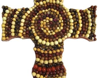 Spiraling Beads Cross