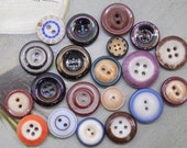20 Antique China Buttons Mixed Lot #6
