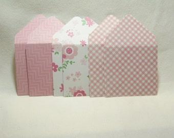 Floral Mini Envelopes, Pink and Floral Mini Envelopes, Mini Envelopes, Mini Note Cards