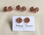 12mm Rose Gold druzy stud earrings / other colors available / FREE gift wrapping