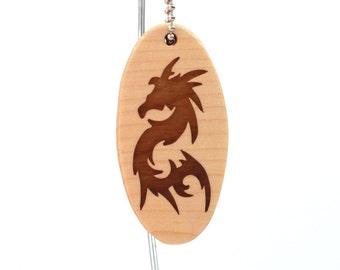 Chinese Dragon Key Chain, Wood Dragon Key Fob, Dragon Accessories, Year of the Dragon Gift, Scroll Saw Key Chain, Walnut Hand Cut
