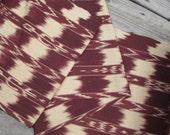 Guatemalan Fabric in Mocha Ikat