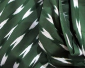 Reserved for Adrienne Guatemalan Ikat Green Serpentine