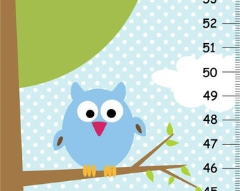 ON SALE Owls in a Tree Canvas GROWTH Chart