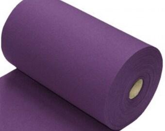 Purple/Cadbury/eggplant  Cotton Ribbing, Cuff and waistband material