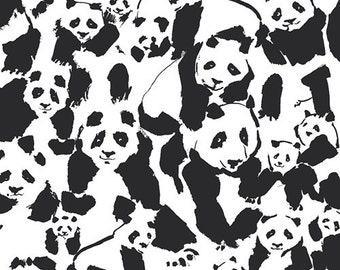 Panda Baby Blanket, minky baby blanket, black and white, gender neutral baby bedding