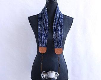 scarf camera strap daisy doodle - BCSCS012
