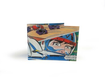 Speed Racer Oyster Card Holder - Upcycled Vintage Manga Comic in Vinyl
