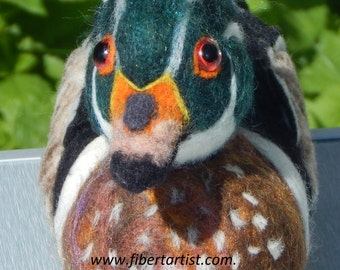 Wood Duck-Needle Felted Soft Sculpture