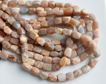 Sunstone faceted nugget beads  (10-13x9-10mm) FULL STRAND (16 inches)