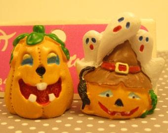 Vintage NOS Miniature Halloween Figurines Craft Supplies Embellishments