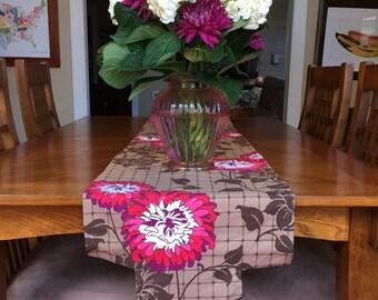 Floral Grid Table Runner