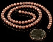 4mm Mauve Round Freshwater Pearls     Pearl19