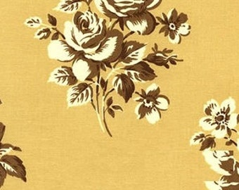 Verna Mosquera - October Skies - Tonal Rose in Corn - cotton quilting fabric BTY