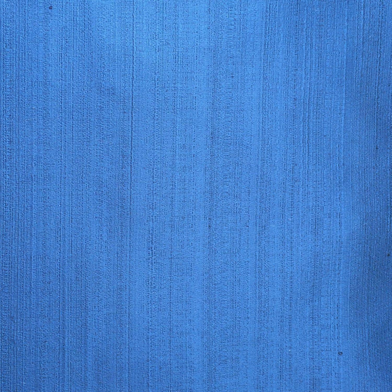 Blue Plain Satin Texture Fabric By The Yard Curtain Fabric