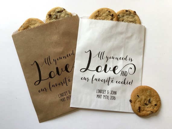 Wedding Favor Bag, Wedding Goody Bag, Wedding Treat Bag, Cookie Favor ...