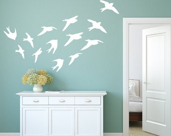 Bird Wall Decals - Bird Decals - Bird Wall Decal - Bird Wall Decor - Bird Wall Art - Window Decals - Bird Window Decal - Wall Decor