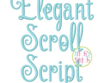 """Elegant Scroll Script Font 1.0"""", 1.5"""", 2.0"""", 2.5"""", & 3.0"""" INSTANT DOWNLOAD now available"""